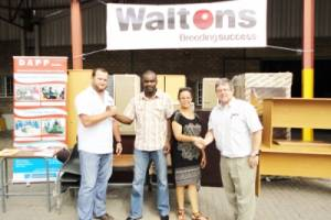 Waltons has donated furniture pieces to the Development Aid from People to People Namibia